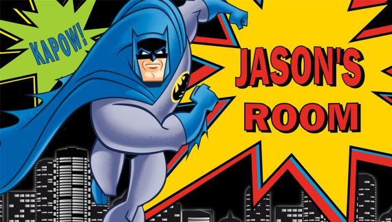 Batman Personalized Custom Room Decor by GraphicMagicDesigns, $24.95