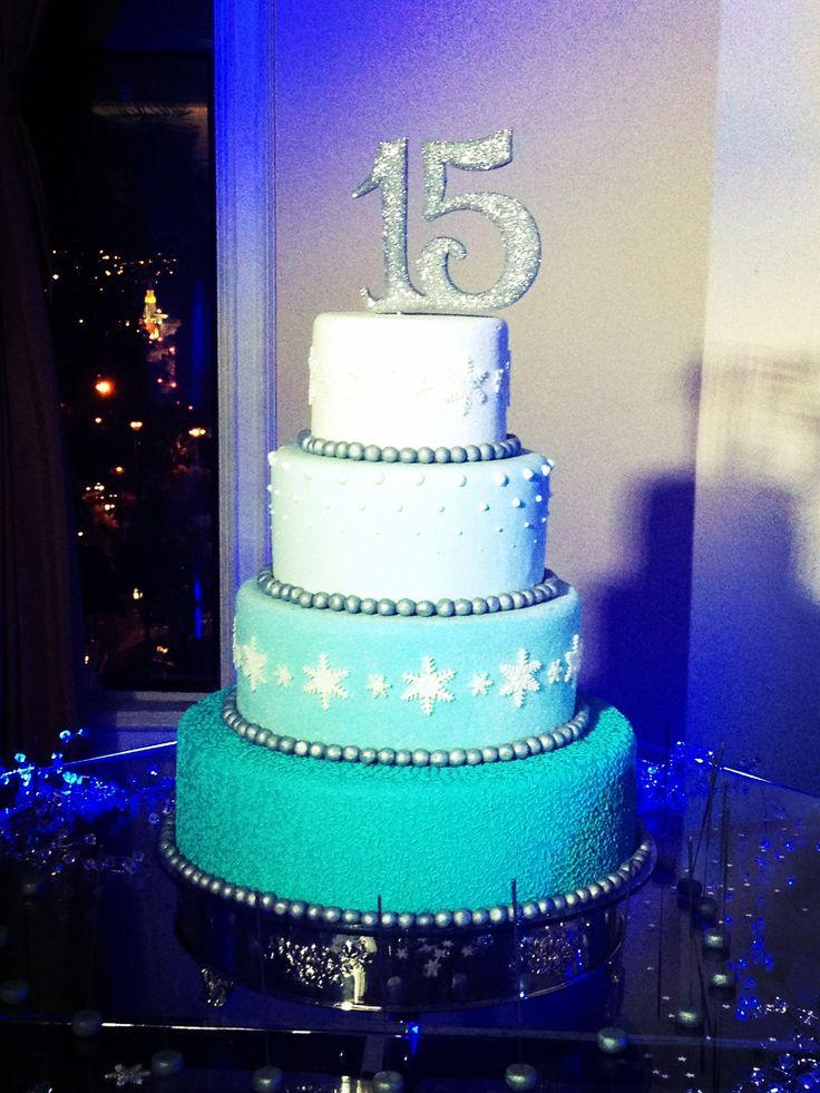Sweet 15!! Winter wonderland cake