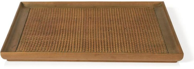 JEAN-MICHEL FRANK | Tray, circa 1930  tray in sycamore maple and straw  Branded J.M.F. and numbered 18683 on the underside Dimensions: 30,5 x 30,5 cm ; 12 x 12 in. Provenance: Galerie Anne-Sophie Duval, Paris  Collection Jacques Grange, Paris