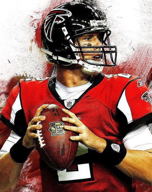 056 Matt Ryan American Football Quarterback Nfl Falcons 24 X30 Poster Ebay Football American Football