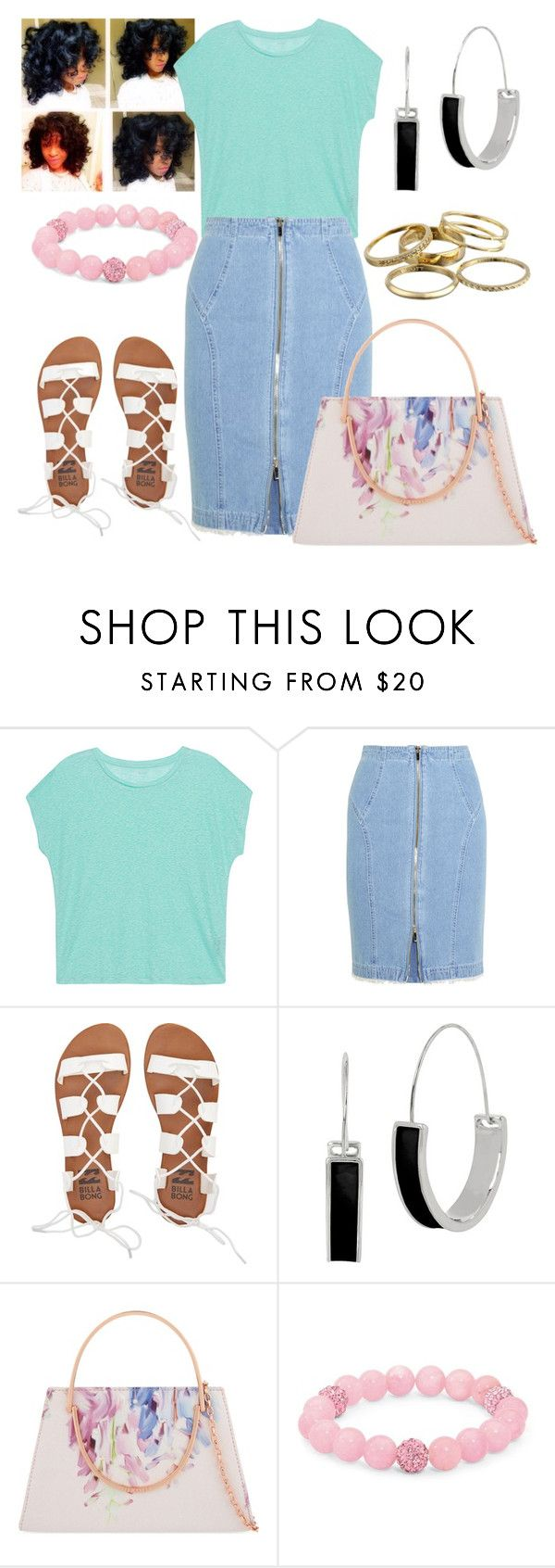 """Untitled #473"" by kyla-figgs ❤ liked on Polyvore featuring Majestic Filatures, Steve J & Yoni P, Billabong, Kenneth Cole, Ted Baker, Palm Beach Jewelry and Kendra Scott"