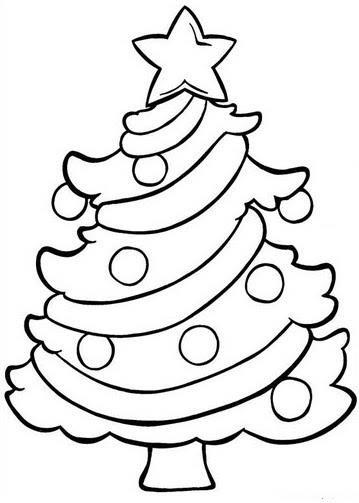 .christmas tress coloring