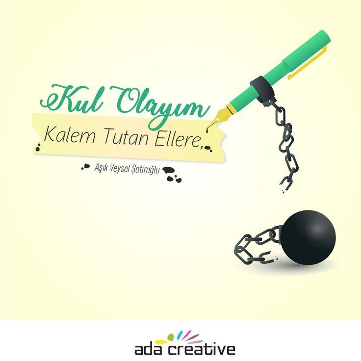 Kalem tutan elleriniz hep özgür yazsın inşallah!#adacreative #adaajans #adareklamevi #reklamederiz #bizitakipedin#basinhaftasi