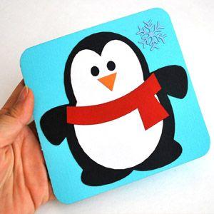 Поздравления, живая открытка своими руками с тремя пингвины