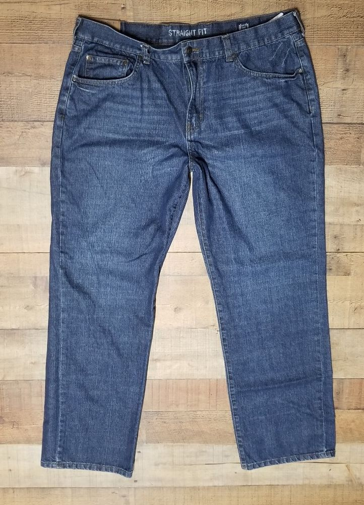 dcae41d6230 Chaps Jeans Mens Size 38 Straight Fit Dark wash 38x30  Chaps   ClassicStraightLeg