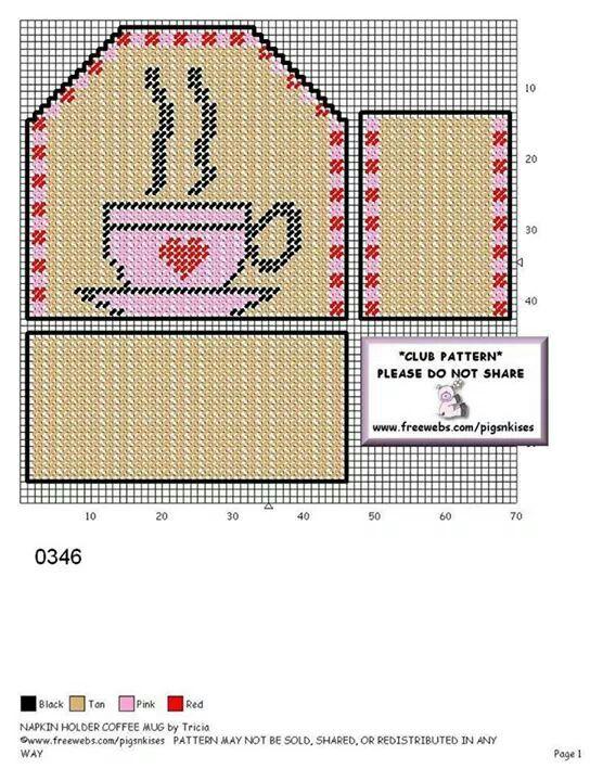 Coffee napkin holder
