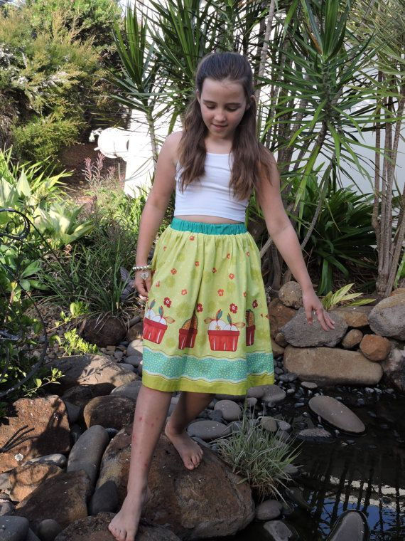 Check out this item in my Etsy shop https://www.etsy.com/au/listing/470671874/girls-skirt-in-fruit-and-floral-print