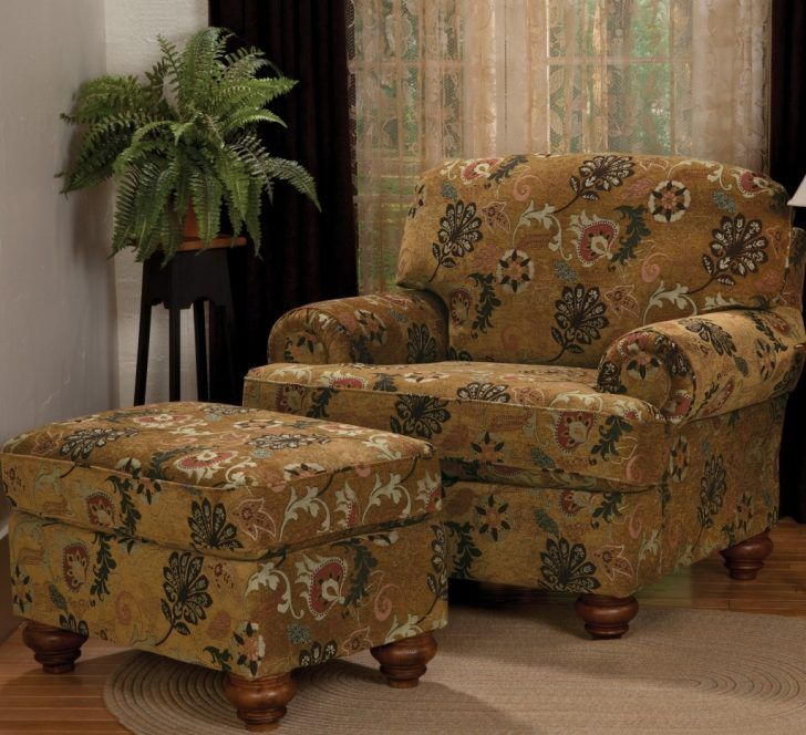 Find this Pin and more on Unique Living Room Decor Ideas. Fancy Overstuffed  Chair And Ottoman ... - 25+ Best Ideas About Overstuffed Chairs On Pinterest French