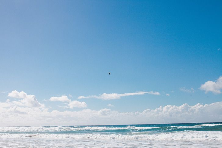 Kurrawa Beach, Broadbeach sur la Gold Coast - Australie