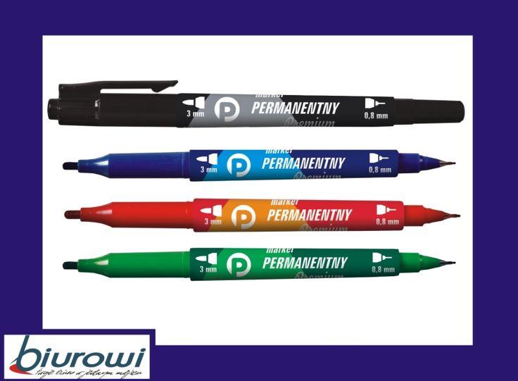 Marker permanentny Tetis KM501 Premium dwustronny
