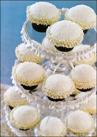 Trophy Cupcakes- White, Sugar-dusted, Ruffle-edged cupcakes - SeattleMamas.com