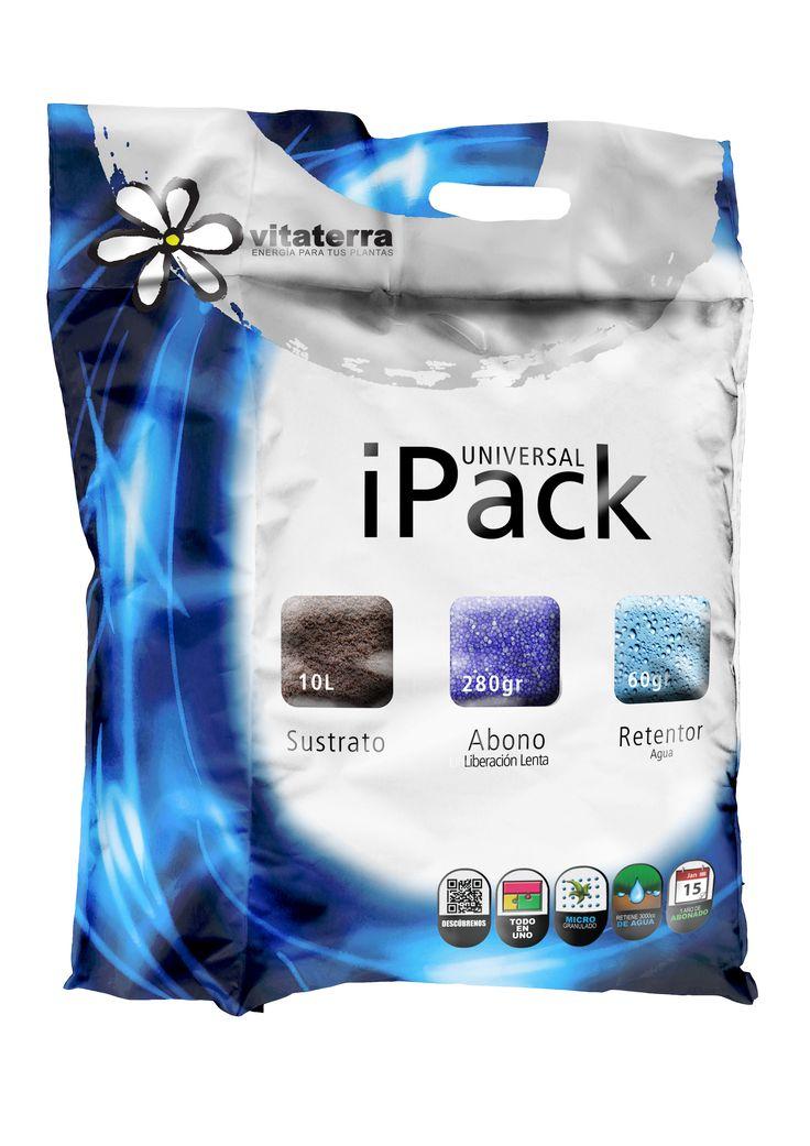 iPack Universal. Sustrato+abono azul+retenedor de agua
