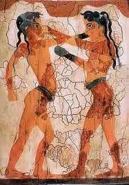 Los colores vivos, como el rojo, el amarillo, el azul y el purpura, eran un rasgo distinto de la vestimenta de las mujeres minoicas en los periodos medios y tardios.