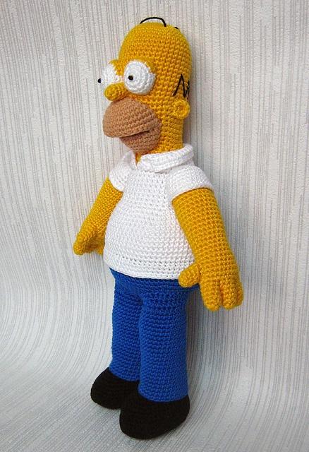 Homer Popular Cartoon Character pattern by Anna Vozika