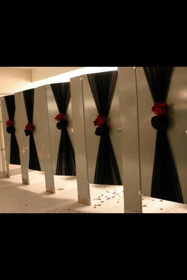 Post Prom Decoration ideas, Bathroom. Don't forget the bathrooms!