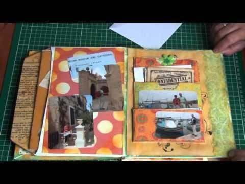 Malta travel mini journal using all different sizes of envelopes #diyjournal #traveljournal #envelopejournal #minialbum #travel #mixedmediatraveljournal
