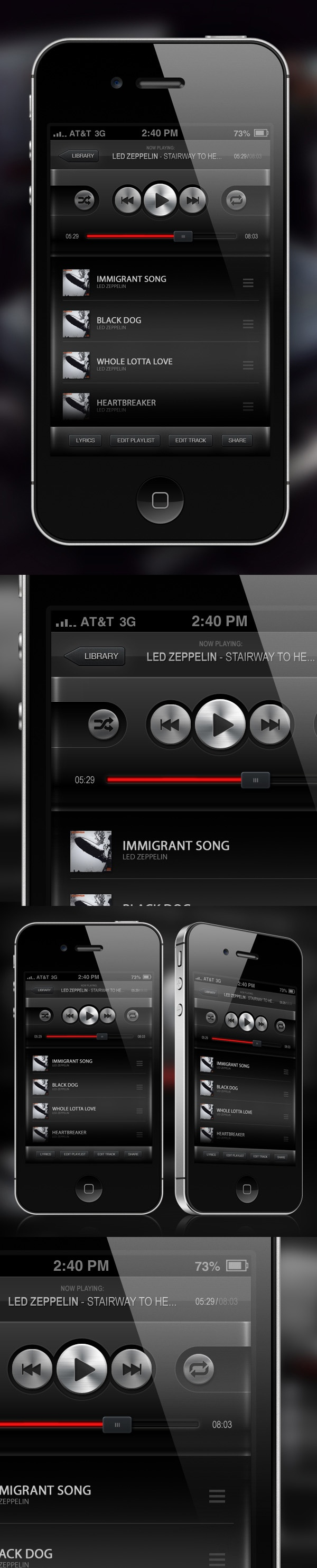 Music Player App GUI by Petr Knoll