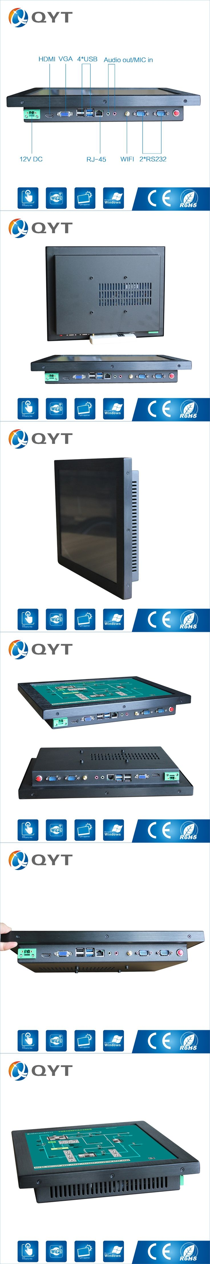 Indutrial Computer 15 Inch i3 6100U ultra thin pos system  Led Touch Screen pc All In One with 4*USB HDMI/2*RS232/RJ45/WIFI