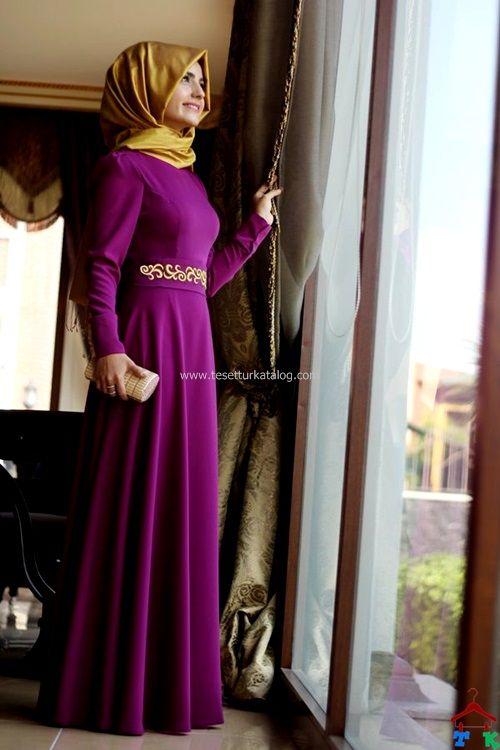 Pınar Şems Beli Nakışlı Elbise Fuşya | Armine | Setrms | Kayra | Aker | Alvina