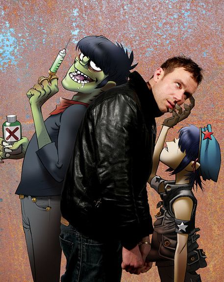 "I have never seen this and I love it. ""Gorillaz"" Murdoc ""Left"", Noodle ""Right"" XD"