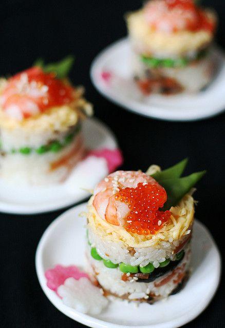 Japanese food / Oshi-zushi(押し寿司)