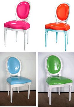 Pop Louis Side Chairs eclectic chairs