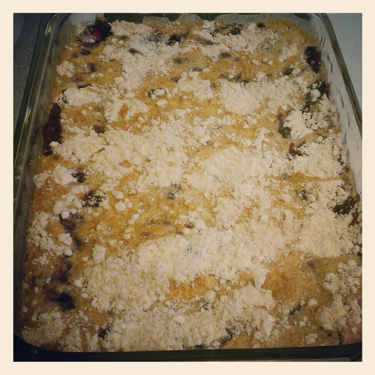 Mixed Fruit Cobbler Made With 1 Box White Cake Mix 1 Can