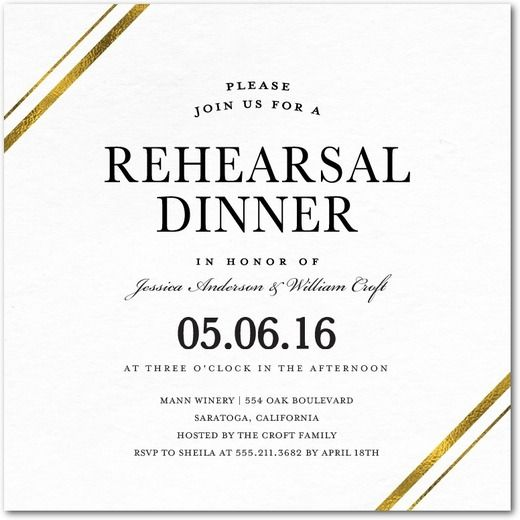 Stylish Bands - Signature White Rehearsal Dinner Invitations - Magnolia Press - White : Front