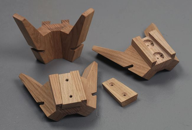 wooden rabbit ear coat hooks - furniture by Tandem, Devon