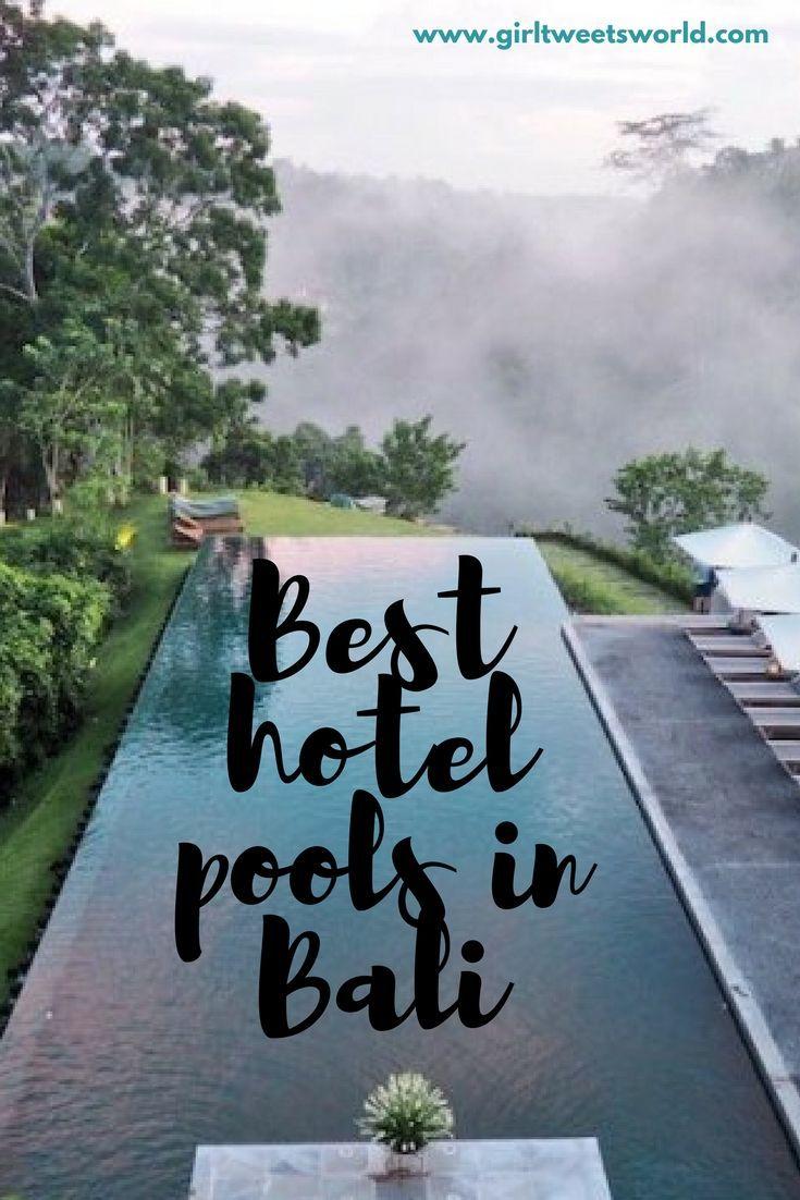 From infinity pools in the jungle to beachfront beauties  - top 5 hotel pools in #Bali    #ubud #uluwatu #luxurytravel #boutiquehotels #bestpools #besthotelsinbali