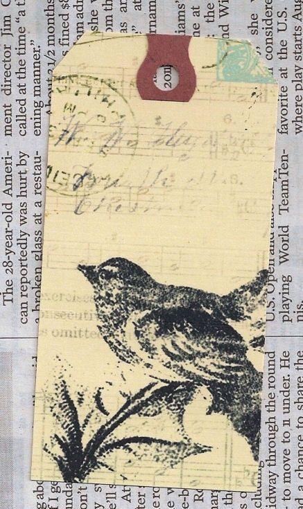vintage bird and postcards