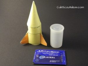 Fun and inexpensive!  Boys & rockets--what a combo.  Use for Webelos & Arrow of Light elective adventure, Adventures in Science.  Great for all Cub Scouts!