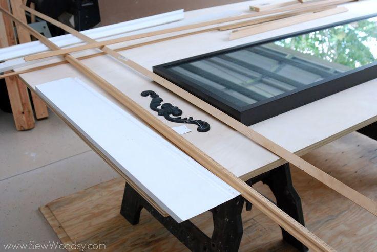 DIY Trumeau Floor Mirror made from PureBond® Hardwood ...
