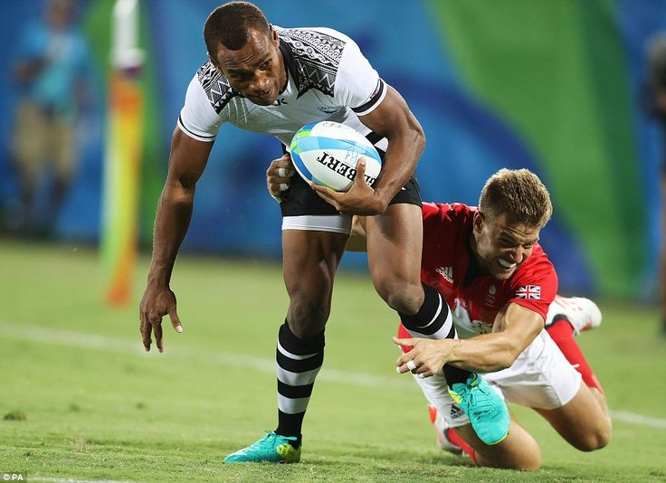 Fiji captain Osea Kolinisau (pictured) led the defending Sevens World Series champions as they ruthless won the first Olympic rugby competition in 92 years