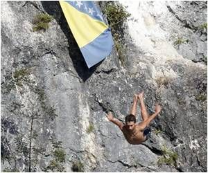Adrenaline Junkies Take the High Diving Plunge In Bosnia