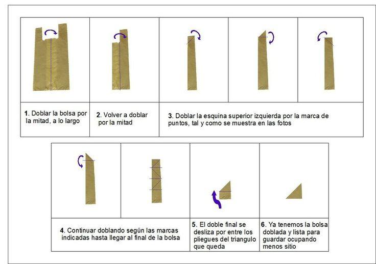 Dispensador de Bolsas Y como doblar las bolsas en forma de triangulo | Manualidades