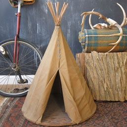 Boy Scout Craft Project Teepee - Use tissue paper and chopsticks or bamboo skewers