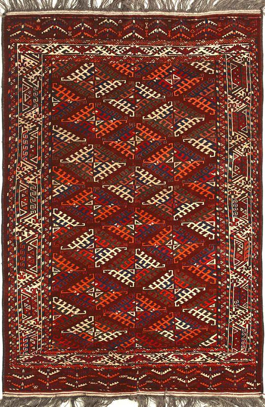 Старинный туркменский ковёр Йомут