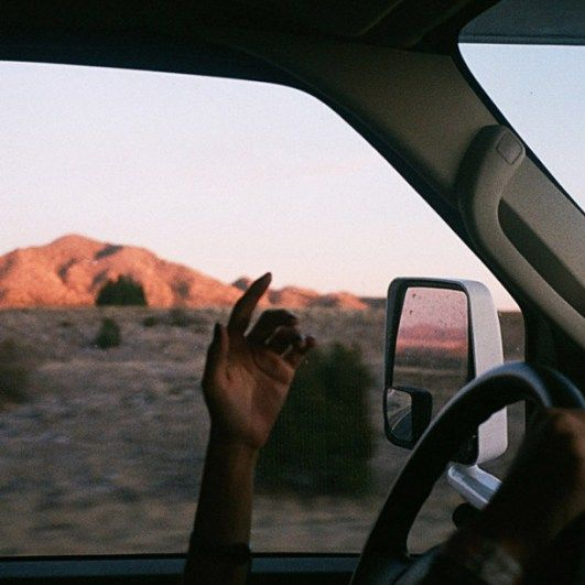 an experience driving through a desert with my friends A horse with no name on the first part of the journey, i was looking at all the life there were plants and birds and rocks and things, there was.
