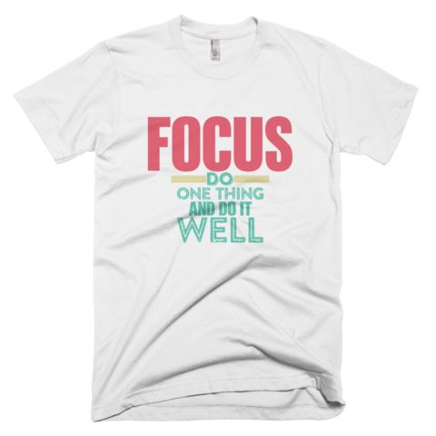 FOCUS Short Sleeve T-Shirt - White