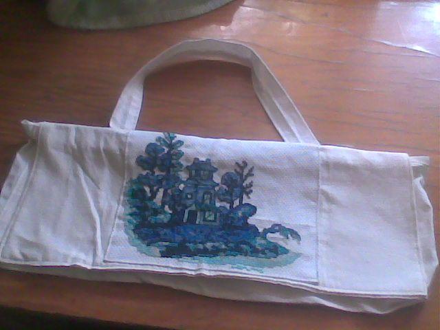 kedvenc kék templomos mintám, táskába álmodva