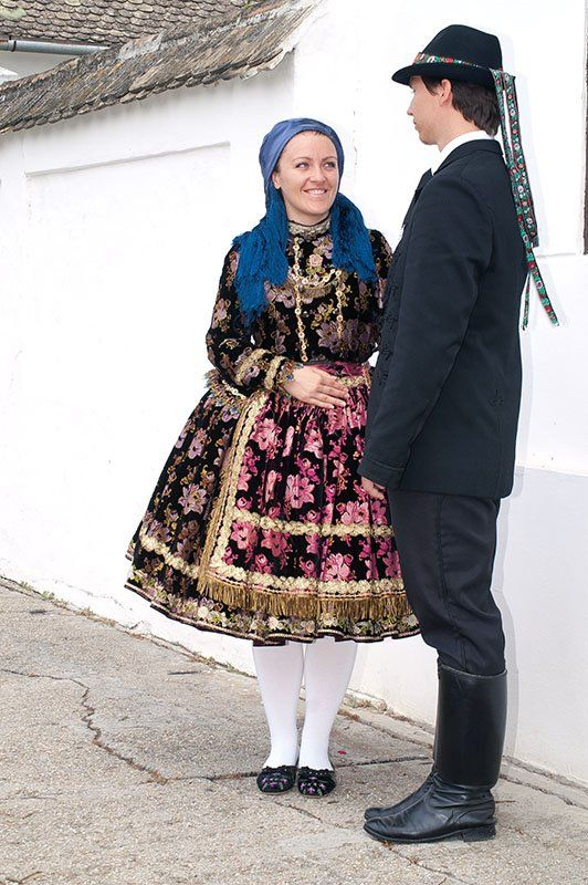 Europe | Portrait of a couple wearing traditional clothes, Hungary | Sárközi
