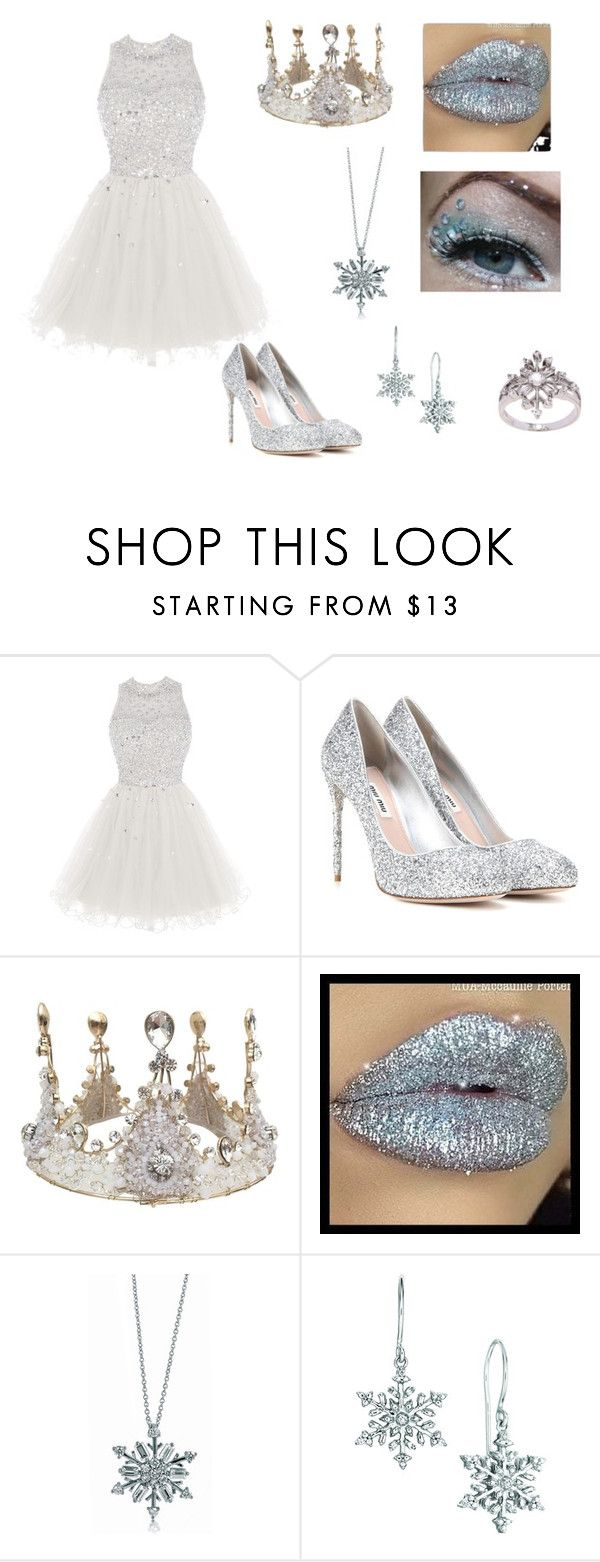 Ice Queen Costume by oliviaf14 on Polyvore featuring Miu Miu, La Preciosa and BERRICLE