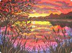 Рисуя природу, мы получаем истинное удовольствие. Наиболее интересен пейзаж в переходном состоянии, прекрасны закаты и восходы. Заходящее солнце пробуждает в нашей душе ,что то древнее, ...