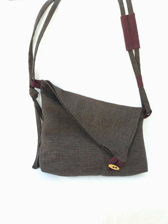 Canvas Messenger Bag, Crossbody Bag, Woman Bag, Gift for her, Shoulder Bag, Fabric Crossbody Bag