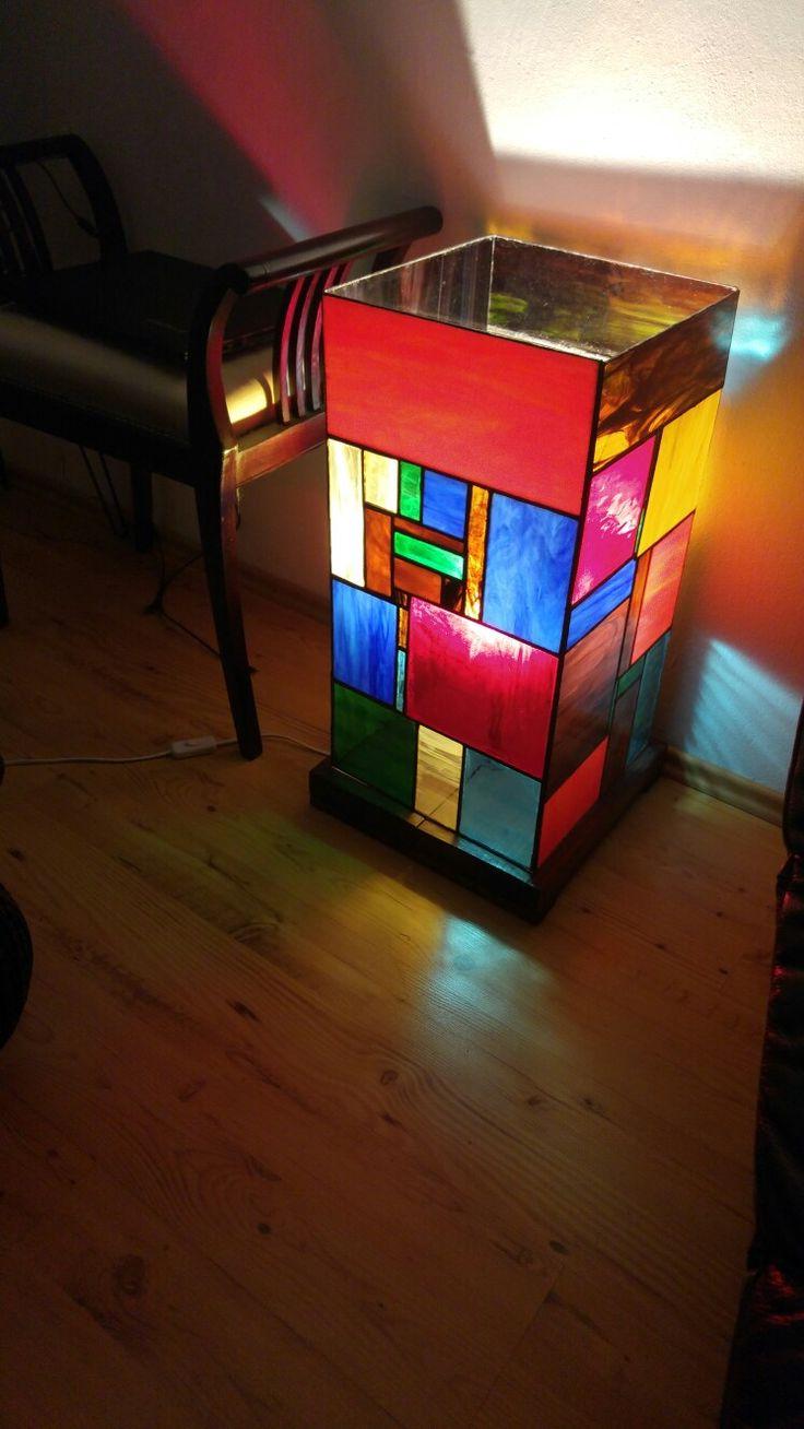 Veľká lampa. Tiffany technika.