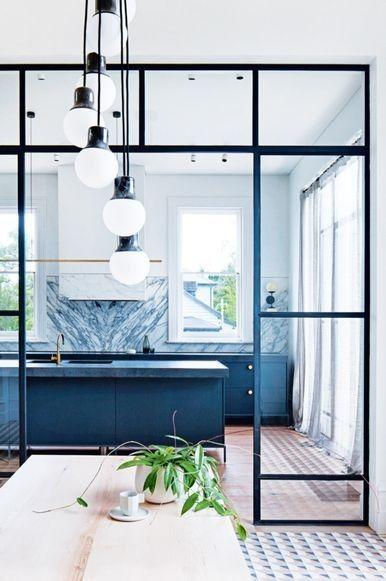 House tour: the revival of a Victorian era home in Melbourne's Prahran: Norm architects 'Mass Light NA5' from Great Dane; Nikari dining table by from Kfive.