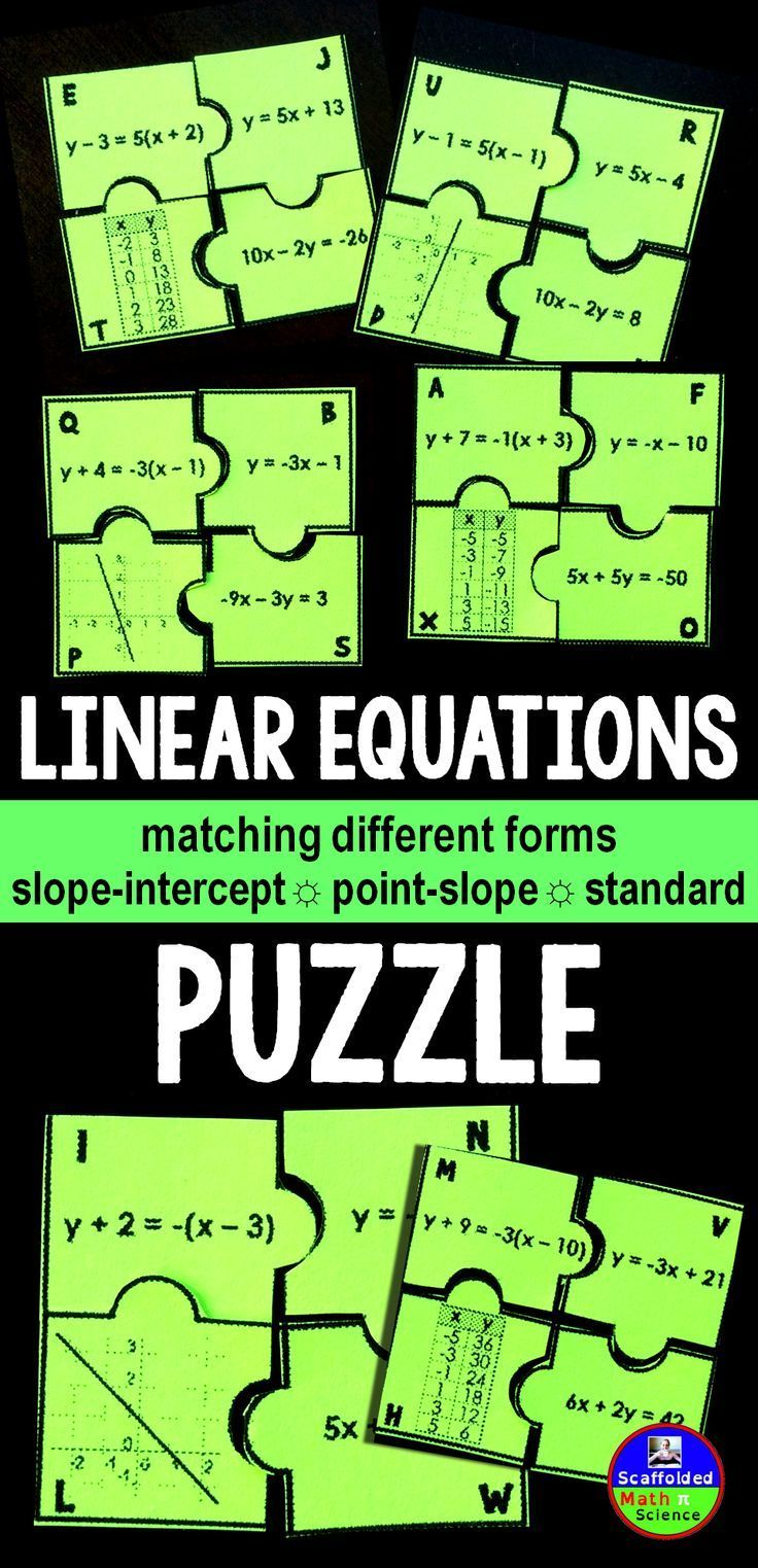 33 best christmas secondary math images on pinterest math middle linear equations puzzle falaconquin