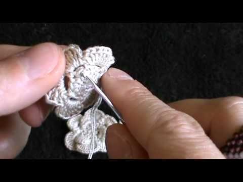 tutorial orecchini all'uncinetto - YouTube