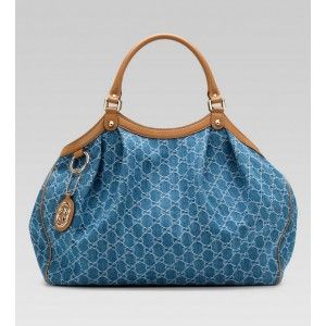 Gucci Sukey Large Tote Blue BXS